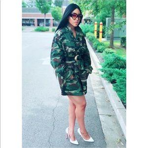 Jackets & Blazers - Camo Jacket wore as a dress Army fatigue military